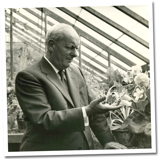 Bates in his greenhouse